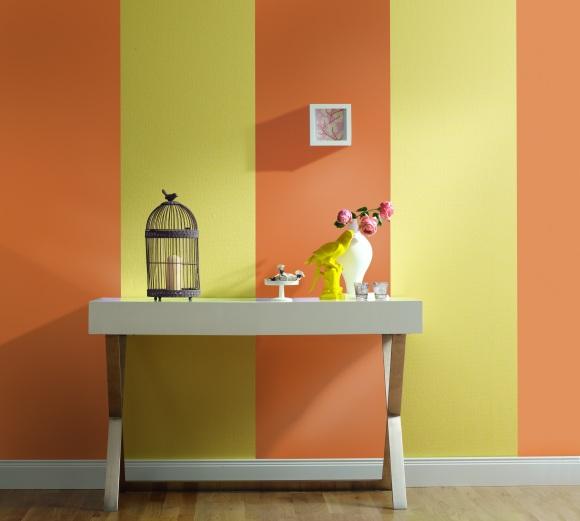 Wanddesign im streifenlook exklusive wohnideen passende - Wanddesign farbe ...