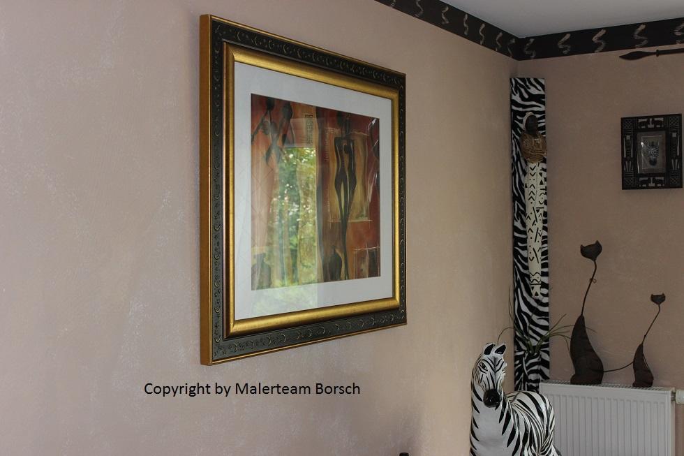 Wandgestaltung deko und bilder by malerteam borsch exklusive wohnideen passende outfits f r - Wandgestaltung afrika style ...