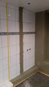 Fugenlose Dusche vorher