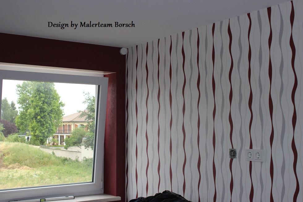 designtapeten tapeziert neubau erstbezug. Black Bedroom Furniture Sets. Home Design Ideas