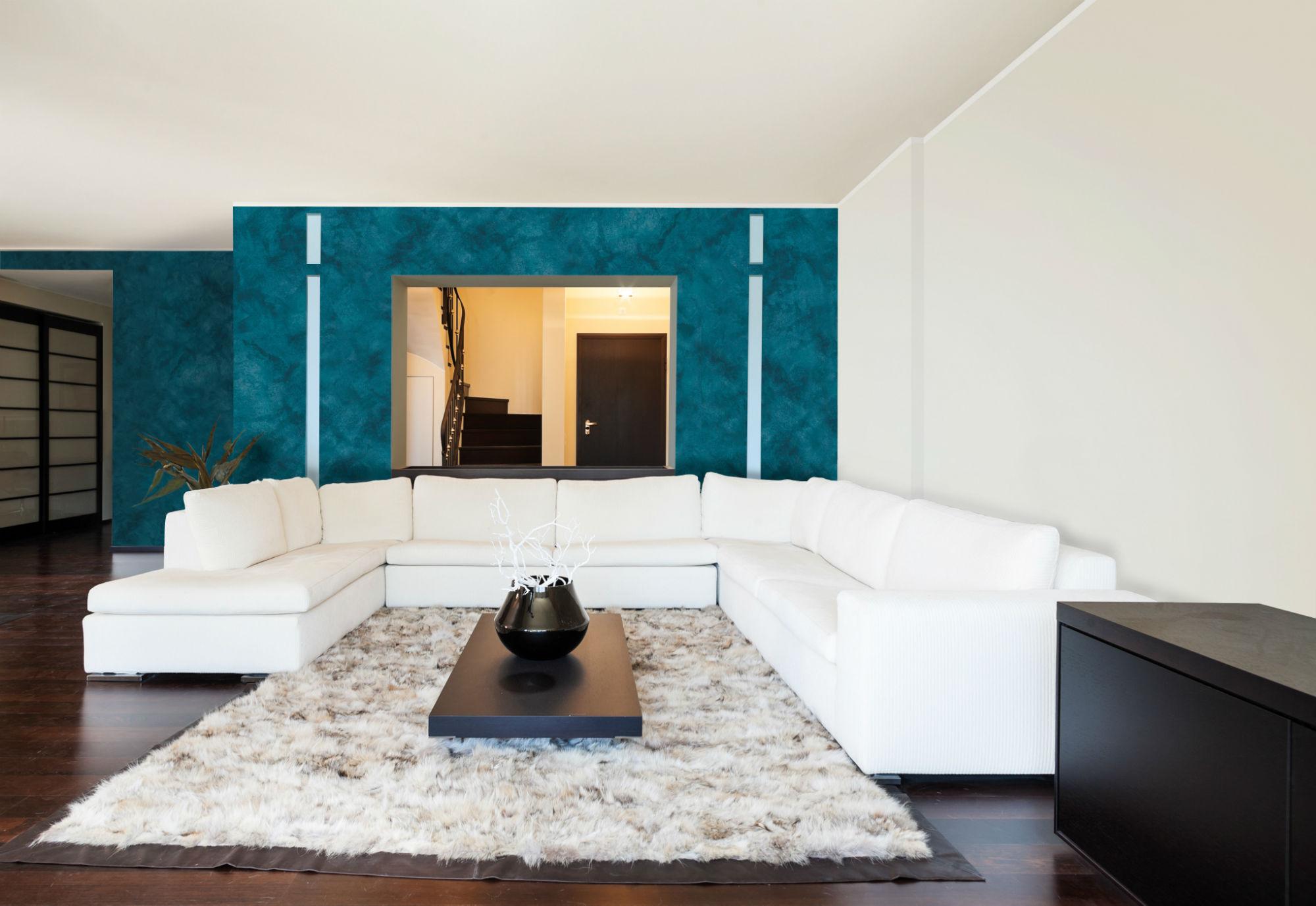 Style Dein Heim, Typisch Moderne Wanddesigns Mit Und Ohne Metalliceffekt