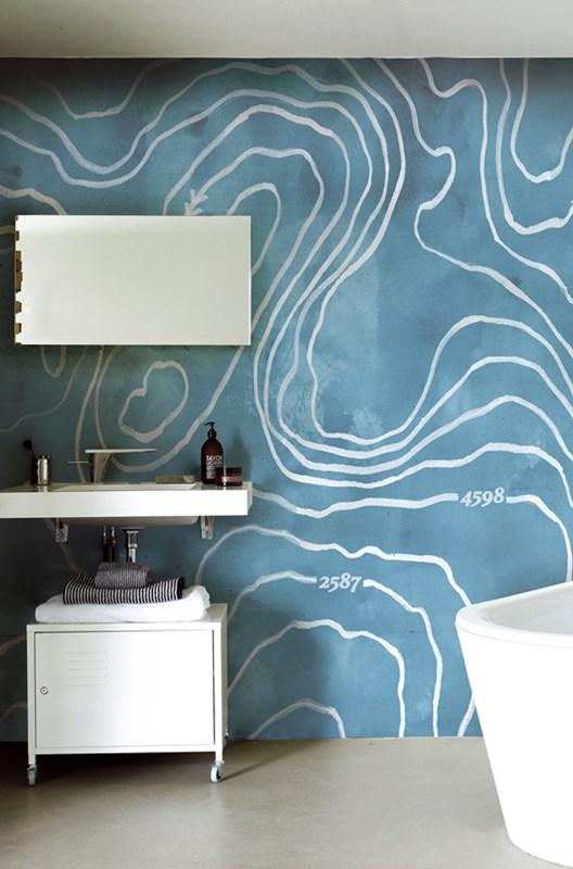 wasserdichte tapeten fr die duschebad - Badgestaltung Mit Tapete