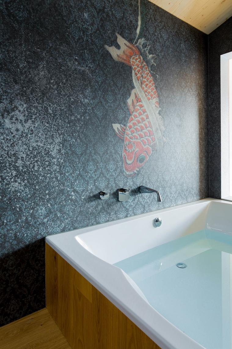 Tapete Im Bad Und Der Dusche.